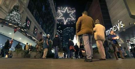 People who walked past holiday lights in Boston last year will have one less holiday season weekend to shop in 2013.